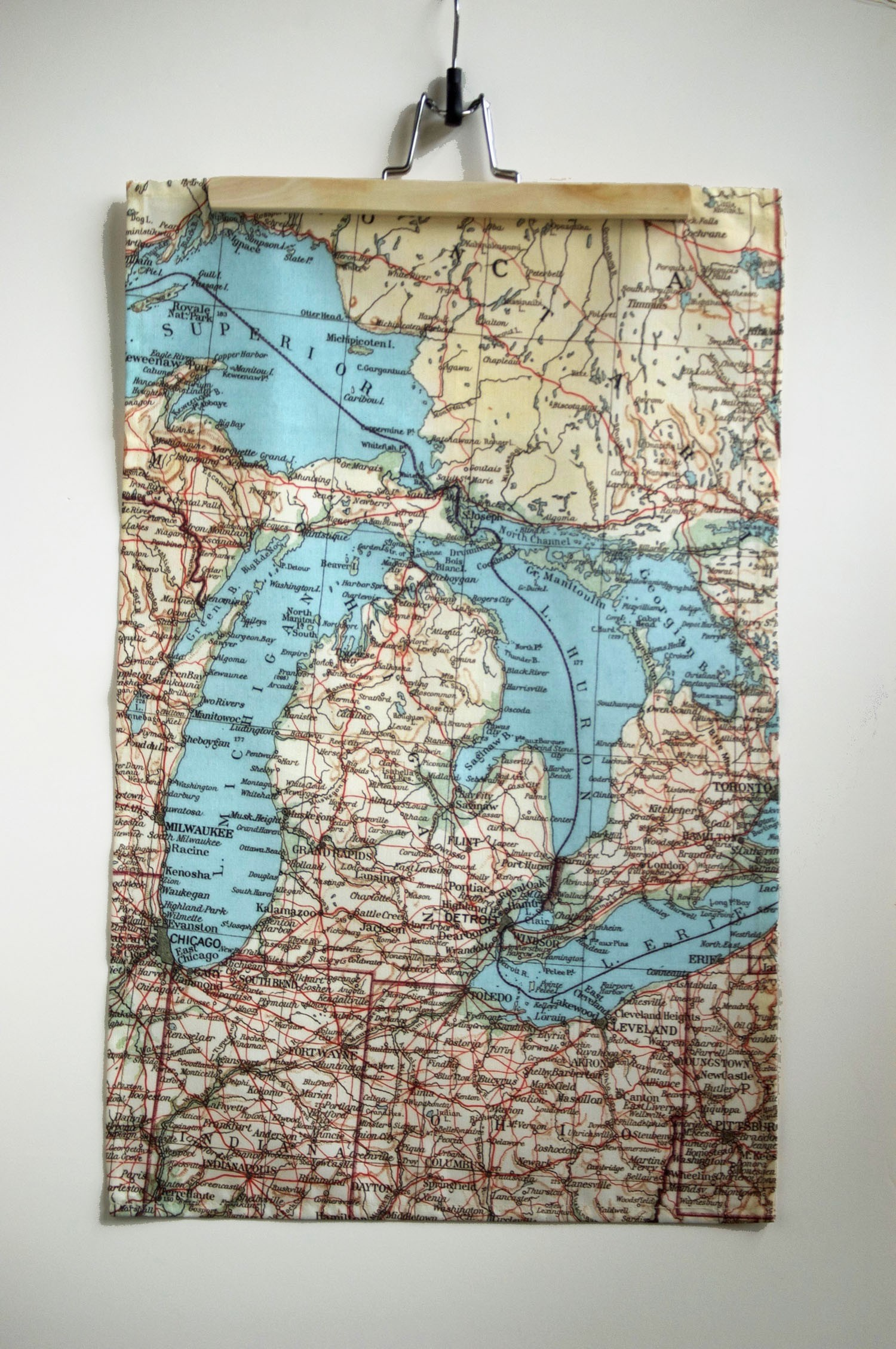 State Of Michigan Tea Towel
