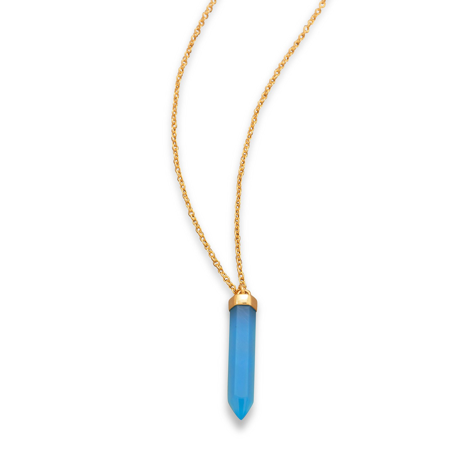 Traverse Bay Drop Necklace- 14 Karat Gold Plated