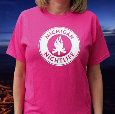 Michigan Nightlife Adult Heliconia T-shirt