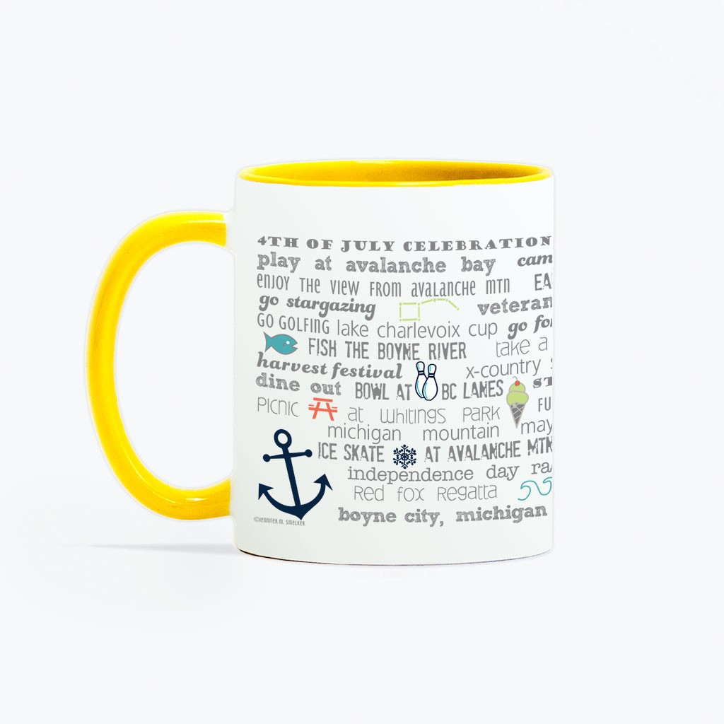 Mug - 11oz  Boyne City Bucket List