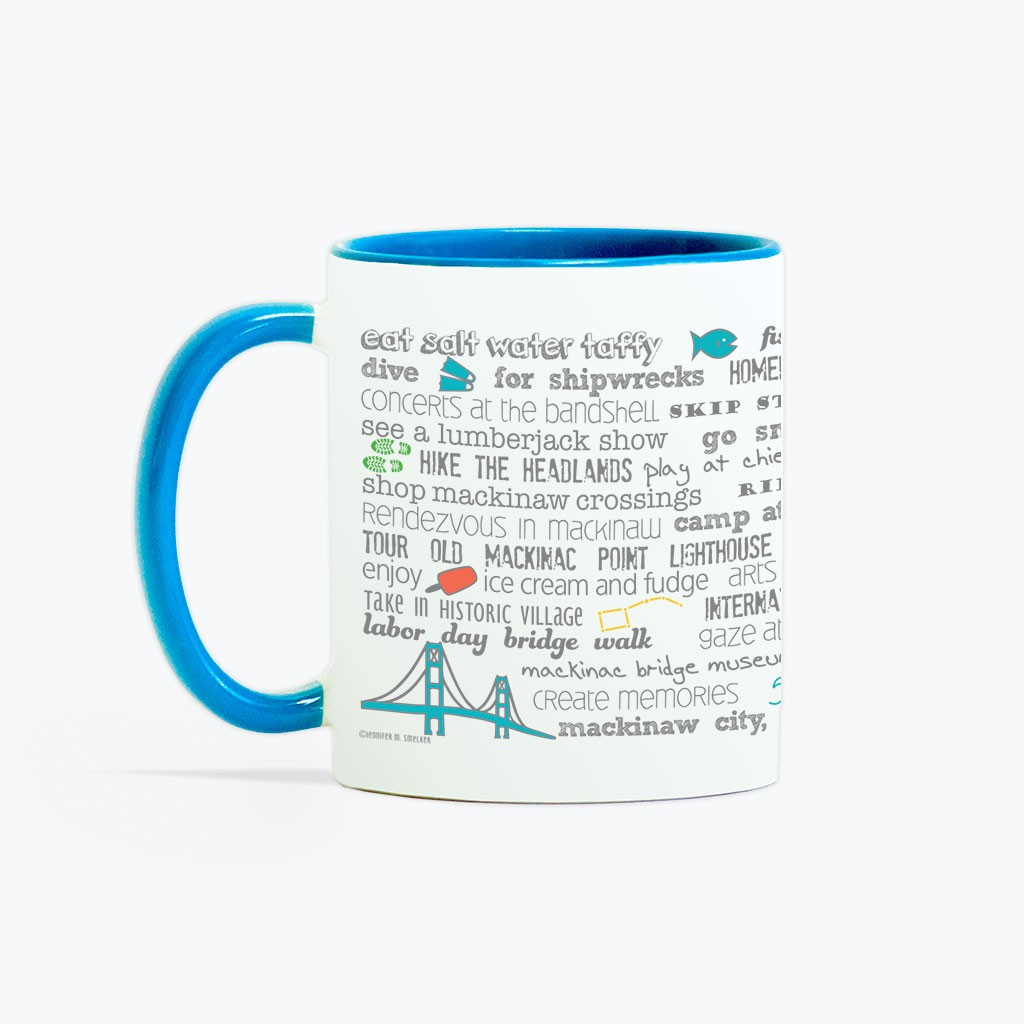 Mug - 11oz Mackinaw City Bucket List