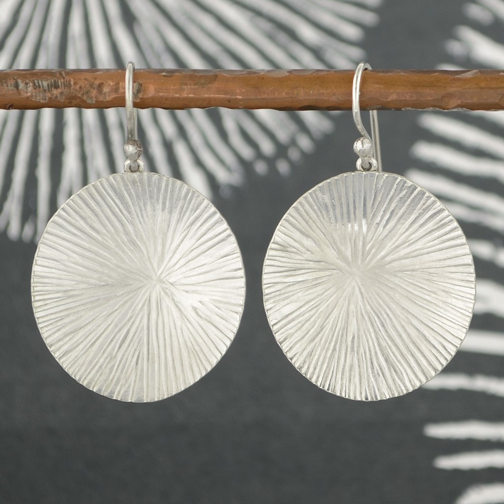 Round Mushroom Spore Print Earrings