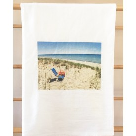 """A Day at the Beach"" MI Heart Kitchen Towel"