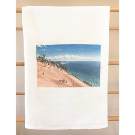 """Sleeping Bear Dune Climb"" MI Heart Kitchen Towel"