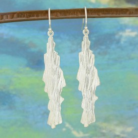 Silver Bark Earrings