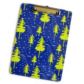 Colorful Clipboard in Sapphire and Citron Moonlight
