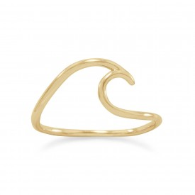 Lake Wave Ring - Gold