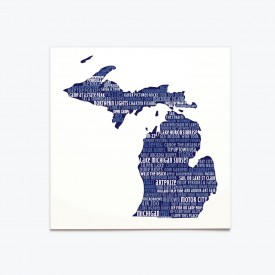 Greeting Card - Michigan Silhouette
