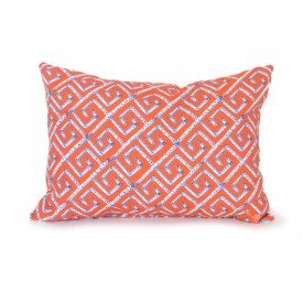 Orange Fancy Birch Key Outdoor Lumbar Pillow