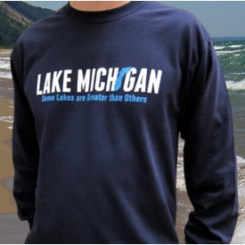 Lake Michigan - Some Lakes are Greater than Others Navy T-shirt