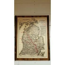 Michigan Railway Map - 1886