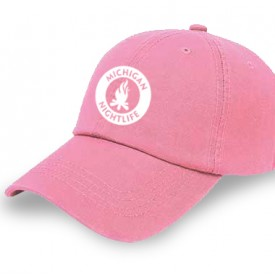 Michigan Nightlife Pink Cap