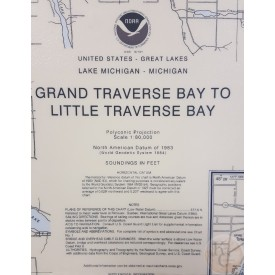 NOAA Nautical  Map Grand Traverse to Little Traverse Bay