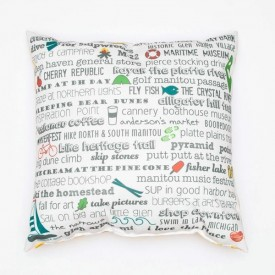 "Pillow - 18"" Glen Arbor Bucket List"