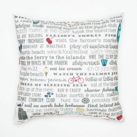 "Pillow - 18"" Leland Bucket List"