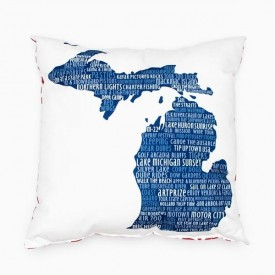 "Pillow - 18"" Michigan Silhouette"