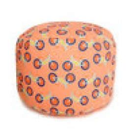 Orange Summer Bikes Overboard Ottoman