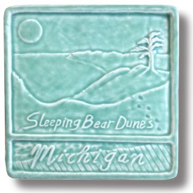 Sleeping Bear Dunes Art Tile