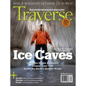 Leelanau Ice Caves Traverse Magazine 2014