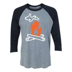 Michigan Campfire Unisex Baseball Tee
