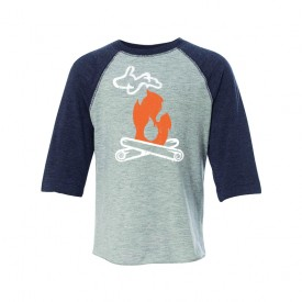 Michigan Campfire Toddler Baseball Tee