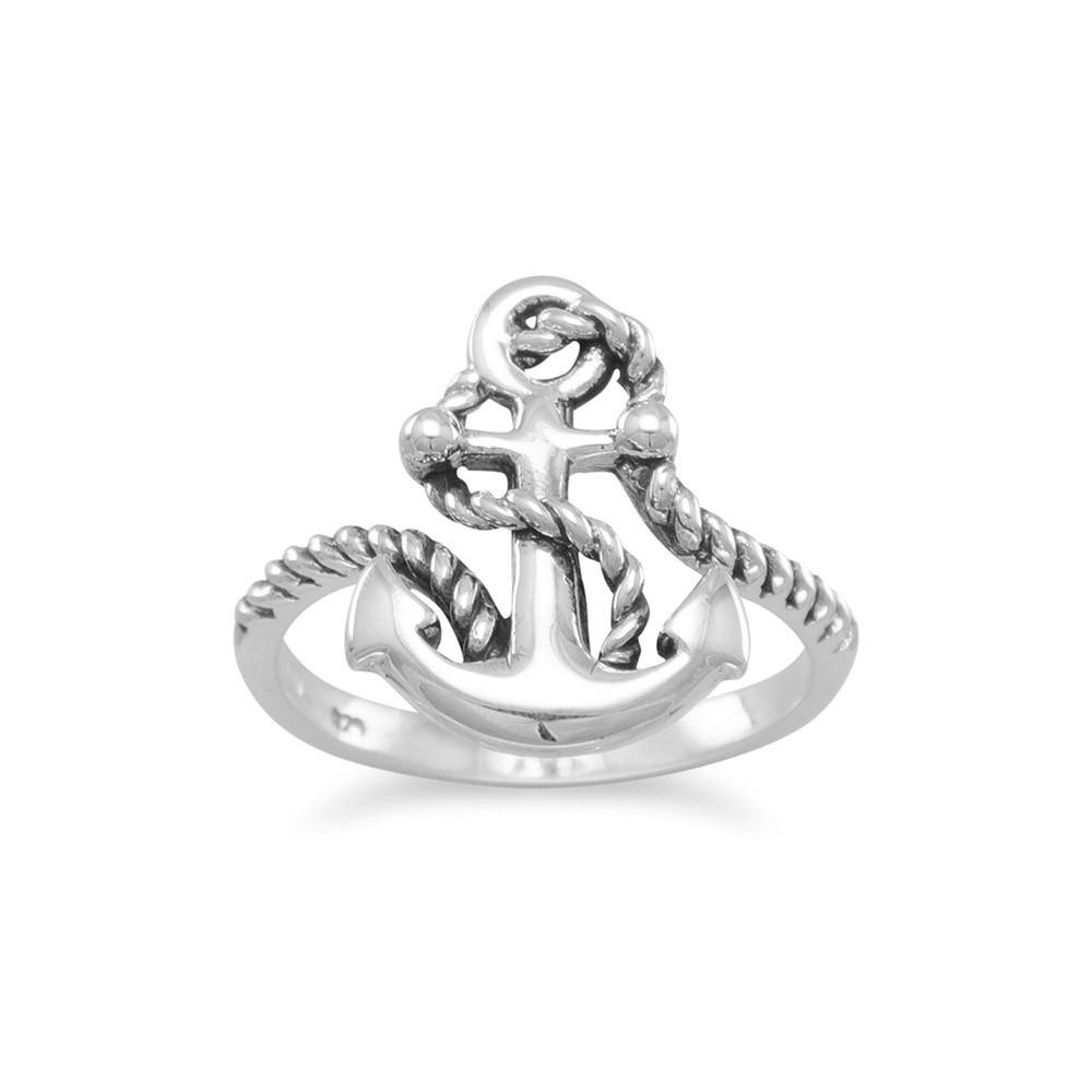 Men's or Women's Anchor Ring with Rope