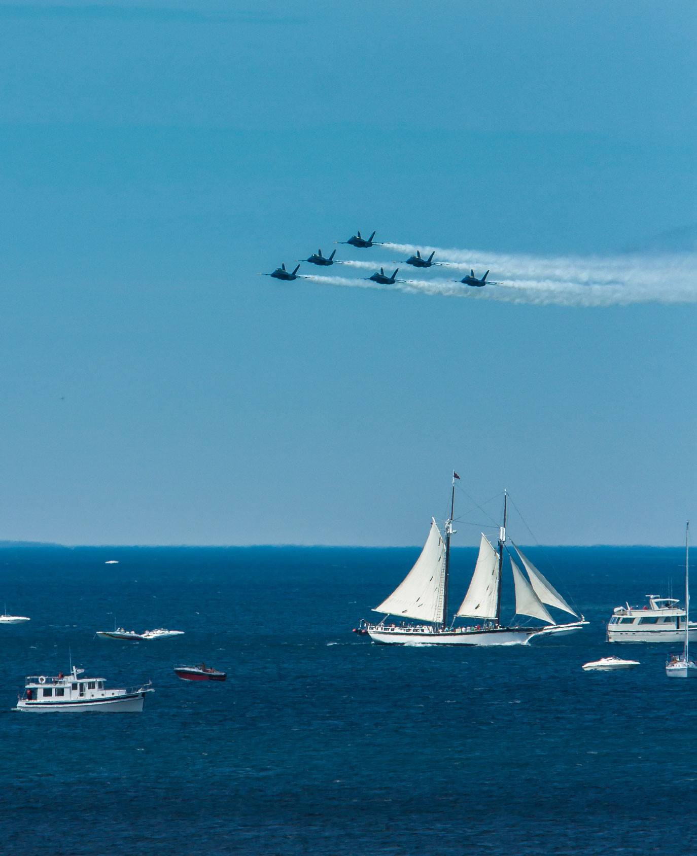 Blue Angels Over West Bay