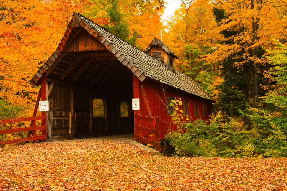 Covered Bridge Canvas