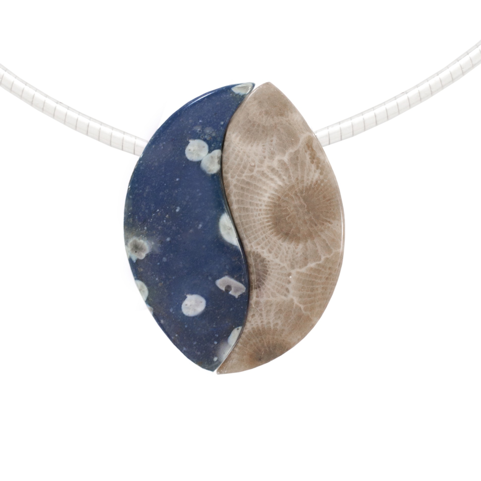 Leland Blue and Petoskey stone Unity Bead