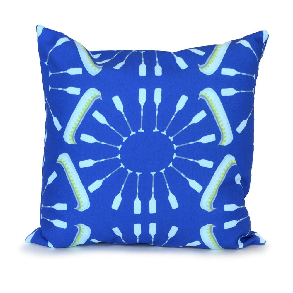 Sapphire Canoes and Oars Outdoor Pillow
