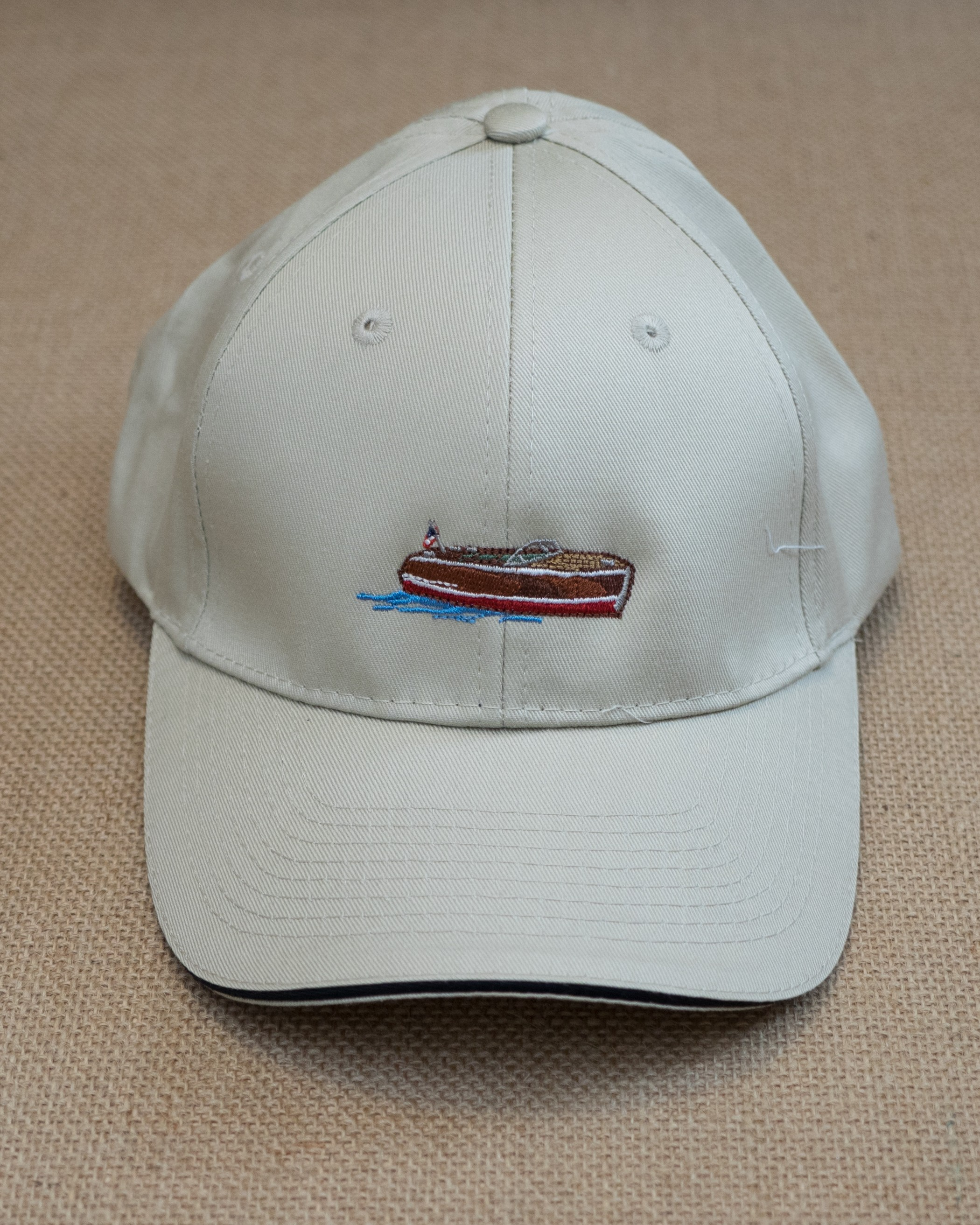 Stone woodyboat embroidered cap