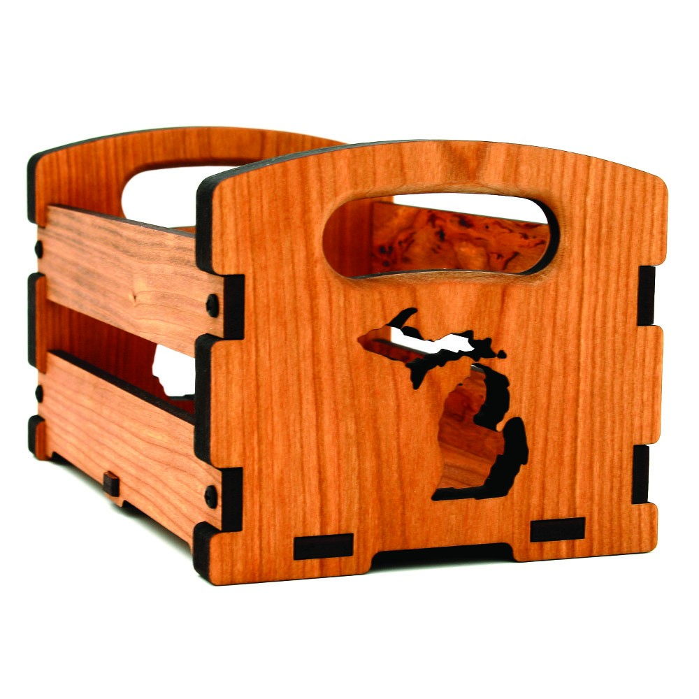 Handcrafted Wooden Crate - Featuring PURE Michigan