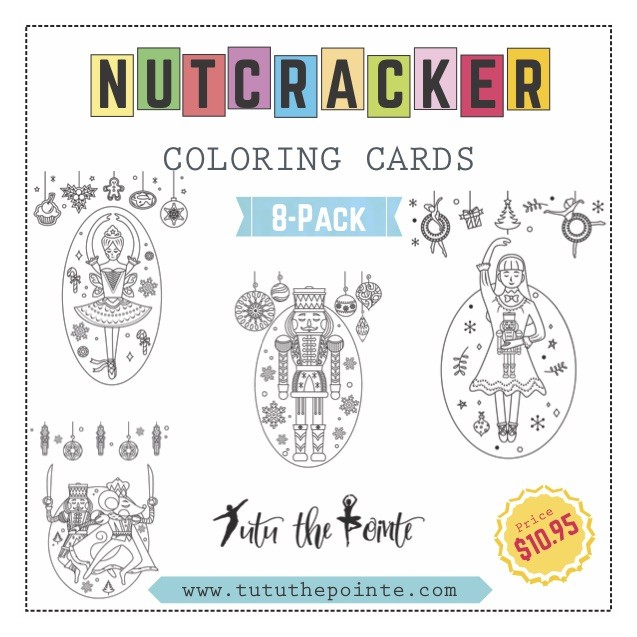 8-Pack Nutcracker Coloring Greeting Cards