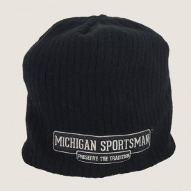 Black Beanie Michigan Sportsman