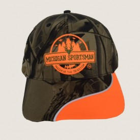 Leaf Camoflage Cap W/Orange Piping Michigan