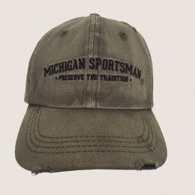 Distressed Spray Washed Cap-Michigan