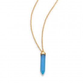 Grand Traverse Bay Drop Necklace- 14 Karat Gold Plated