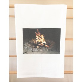 """S'mores Anyone?"" MI Heart Kitchen Towel"