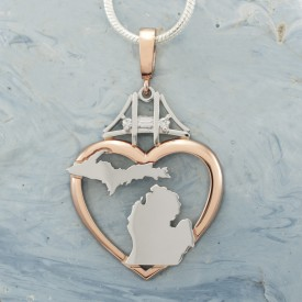 Rose Gold Pure Michgan Pendent
