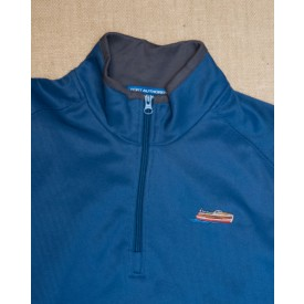 Men's embroidered woodyboat 1/4 zip pullover