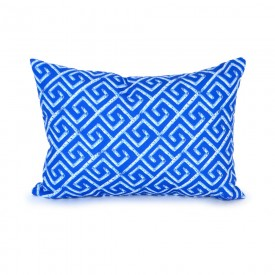 Sapphire Fancy Birch Key Outdoor Lumbar Pillow