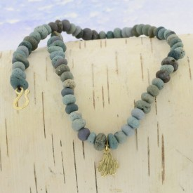Leland Blue Gold Bark Necklace