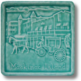 Mackinac Carriage Art Tile