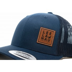 Leather Patch Navy Trucker Hat