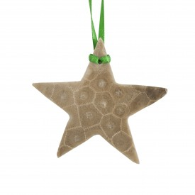 Petoskey Stone Star Ornament