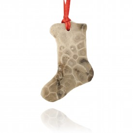 Petoskey Stone Stocking Ornament