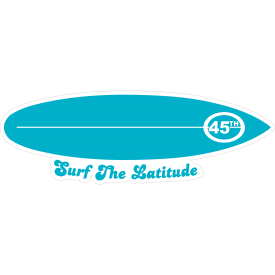 Surf the Latitude Decal