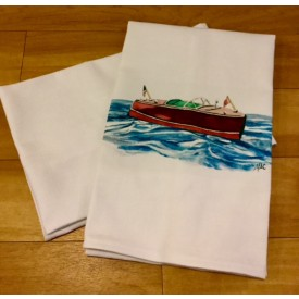 Vintage boat kitchen towel
