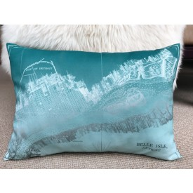 Detroit and Belle Isle pillow cover